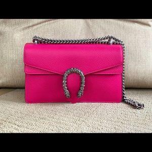 GUCCI hot pink Dionysus small shoulder bag